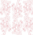 pink orchids pattern vector image