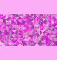 polygonal geometrical abstract mosaic triangle vector image vector image