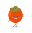 pretty cartoon persimmon vector image