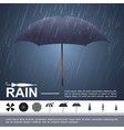 realistic water storm concept vector image vector image