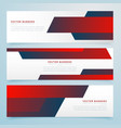 red abstract business banners template set vector image vector image