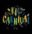 rio de janeiro carnival from vector image vector image