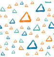 seamless pattern with brush triangle blue vector image vector image