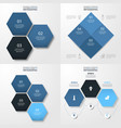 set of modern infographics template for business vector image vector image