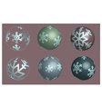 Set of snowflake balls in 3D vector image vector image