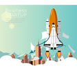 Space Shuttle for business start up vector image vector image