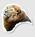 sticker lion face vector image