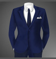 stylish business blue suit vector image vector image