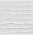 torn paper set on a transparent background vector image