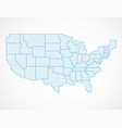 united states blank map with borders vector image vector image
