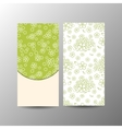 Vertical floral banner template vector image vector image