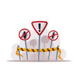 warning prohibition signs pest control and vector image vector image