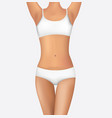 woman body fit vector image vector image