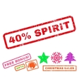 40 Percent Spirit Rubber Stamp vector image vector image