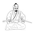 a Japanese samurai vector image