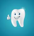 Animated hero happy human tooth vector image vector image