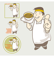 Asian Chef acting present Clean food good taste vector image vector image