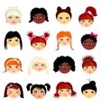 avatar set with womens different ethnicity vector image
