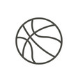 basketball ball icon line basket symbol vector image vector image