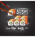 best sushi vector image vector image