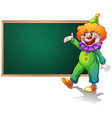 Board and clown vector image