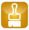 brush app icon vector image