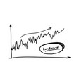 business doodle graph vector image
