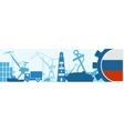 Cargo port Russia flag in gear vector image vector image