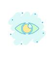cartoon eye icon in comic style eyeball look sign vector image