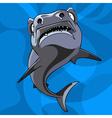 cartoon shark underwater vector image