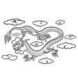 Chinese dragon in clouds vector image vector image