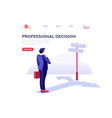 choose business decision symbol vector image