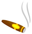 colorful cartoon lighted cigar vector image