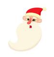 cute santa claus surprised facial expression vector image vector image