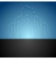 Dark blue circuit board tech background vector image vector image