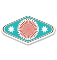 emblem or label icon image vector image