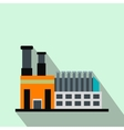 Factory building flat icon vector image vector image