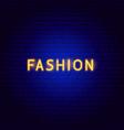 fashion neon text vector image vector image