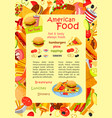 fast food poster for restaurant menu vector image vector image