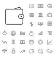 finance outline thin flat digital icon set vector image