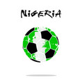 flag of nigeria as an abstract soccer ball vector image