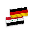 flags of syria and germany on a white background vector image vector image