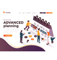 flat color modern isometric concept - advanced vector image vector image
