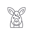 funny hare line icon concept funny hare vector image