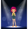 Girl Stage Performance vector image vector image