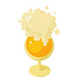 glass of beer icon isometric style vector image vector image