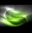 glittering neon glowin wave techno modern art vector image