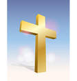 Golden Cross in the Sky vector image vector image