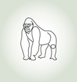 Gorilla in minimal line style vector image