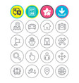 gps navigation icon car bus and ship transport vector image vector image
